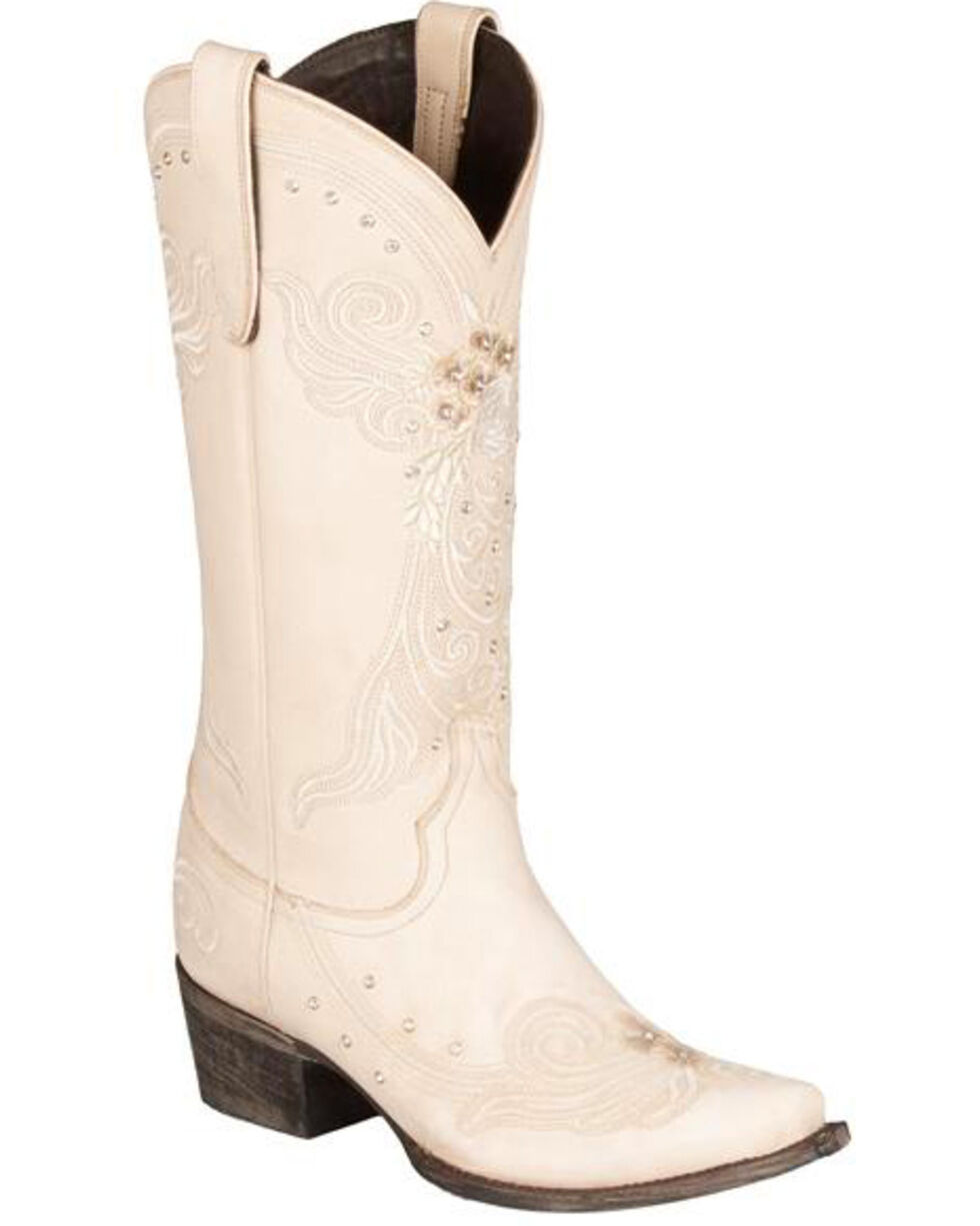 Lane Women's Wedding Western Fashion Boots, Ivory, hi-res