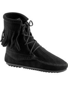 Minnetonka Women's Tramper Boots, Black, hi-res
