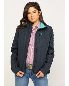 Cinch Women's Tribal Print Bonded Concealed Carry Jacket, Black, hi-res