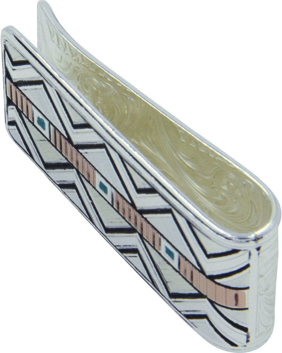 Montana Silversmiths Two Tone Southwestern Unending Trails Money Clip, Silver, hi-res