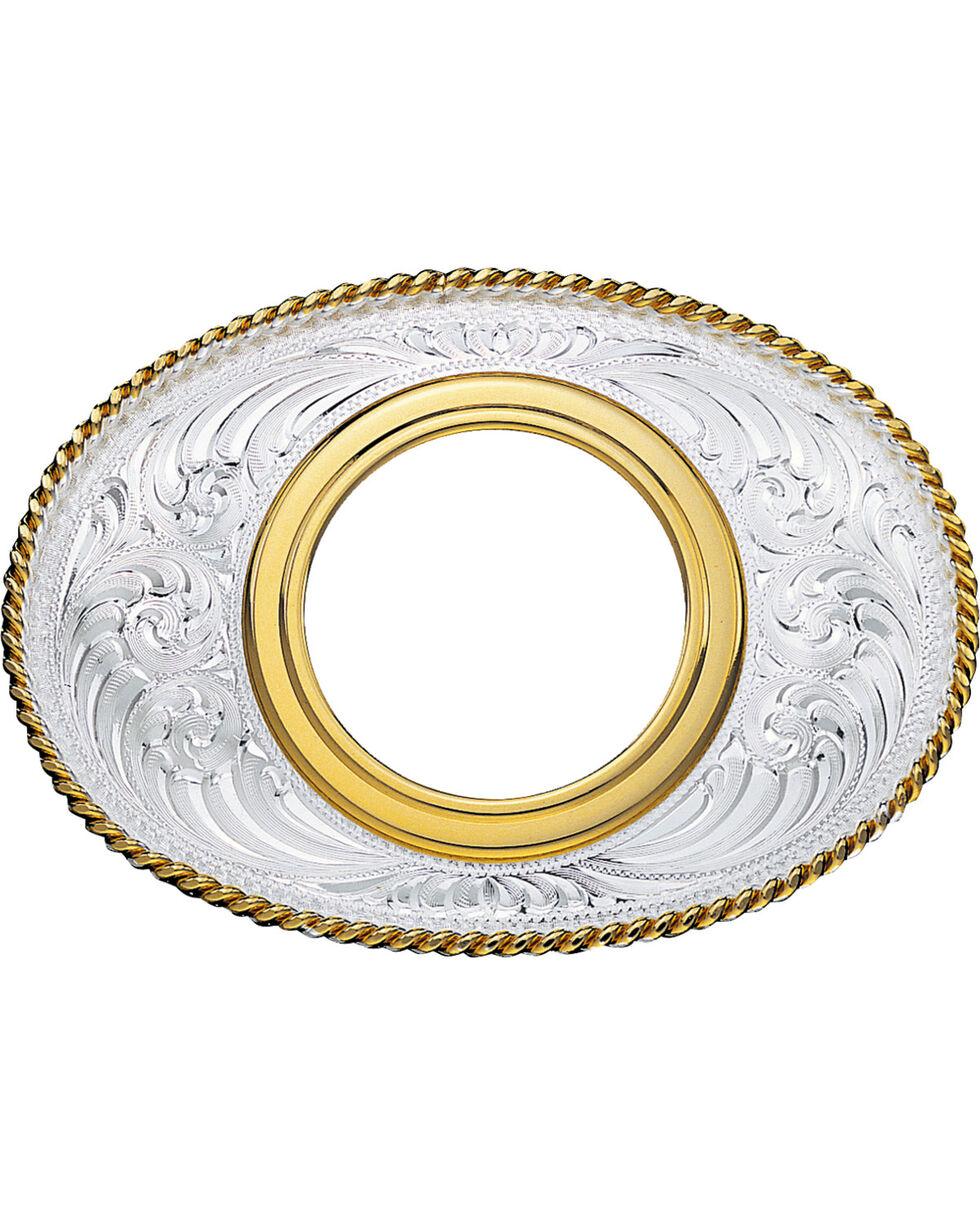 Montana Silversmiths Morgan Dollar Coin Holder Western Belt Buckle, Multi, hi-res