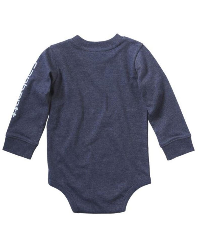 Carhartt Infant Boys' Rugged and Tough Metallic Print Long Sleeve Body Shirt , , hi-res