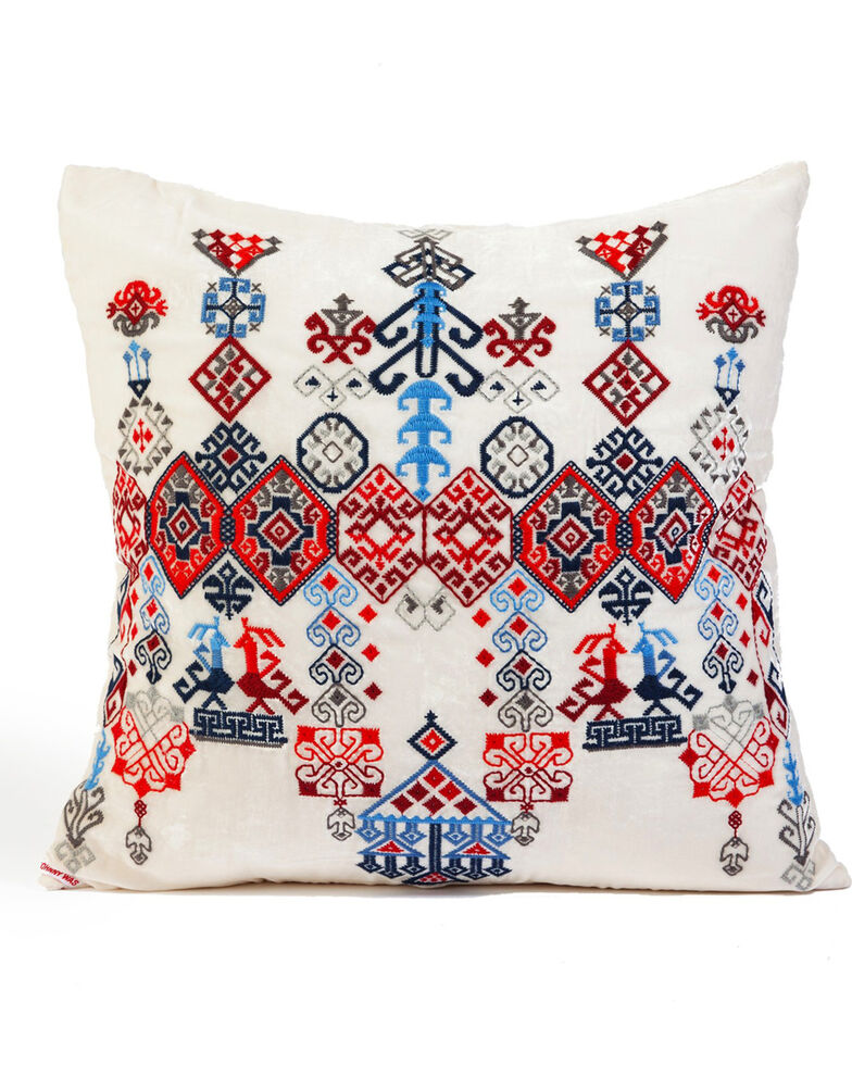 Johnny Was Casa Embroidered Pillow , Cream, hi-res