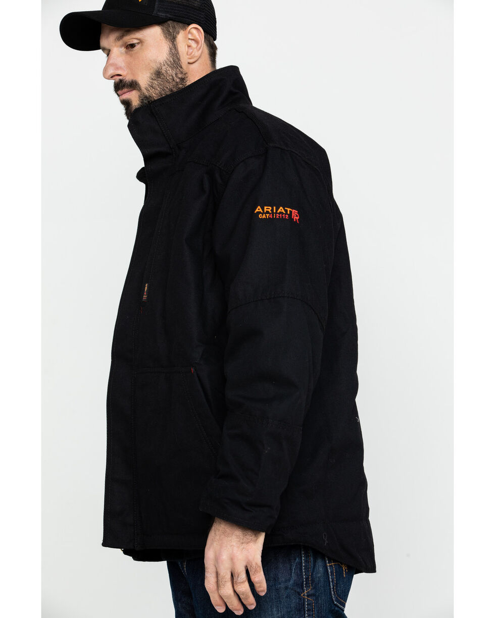 Ariat Men's Black FR Workhorse Jacket - Tall , Black, hi-res