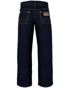 Wrangler Boys' Original Active Flex Prewash Dark Stretch Cowboy Cut Boot Jeans , Blue, hi-res