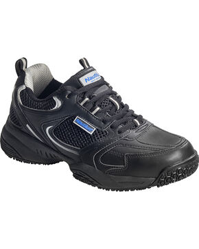 Nautilus Men's Steel Toe Slip Resistant Safety Shoes, Black, hi-res