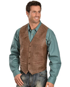 Scully Men's Heavy Lambskin Vest, Brown, hi-res