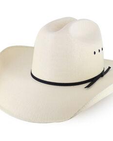 Cody James® Men's Black Tie Straw Hat, Natural, hi-res