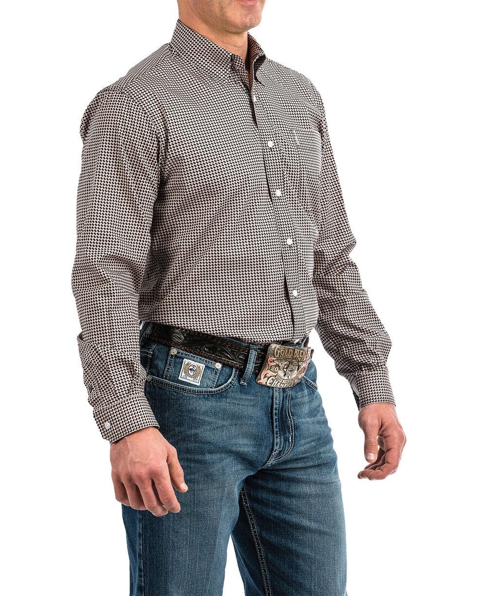 Cinch Men's Multi Modern Geo Print Button Long Sleeve Western Shirt , Multi, hi-res