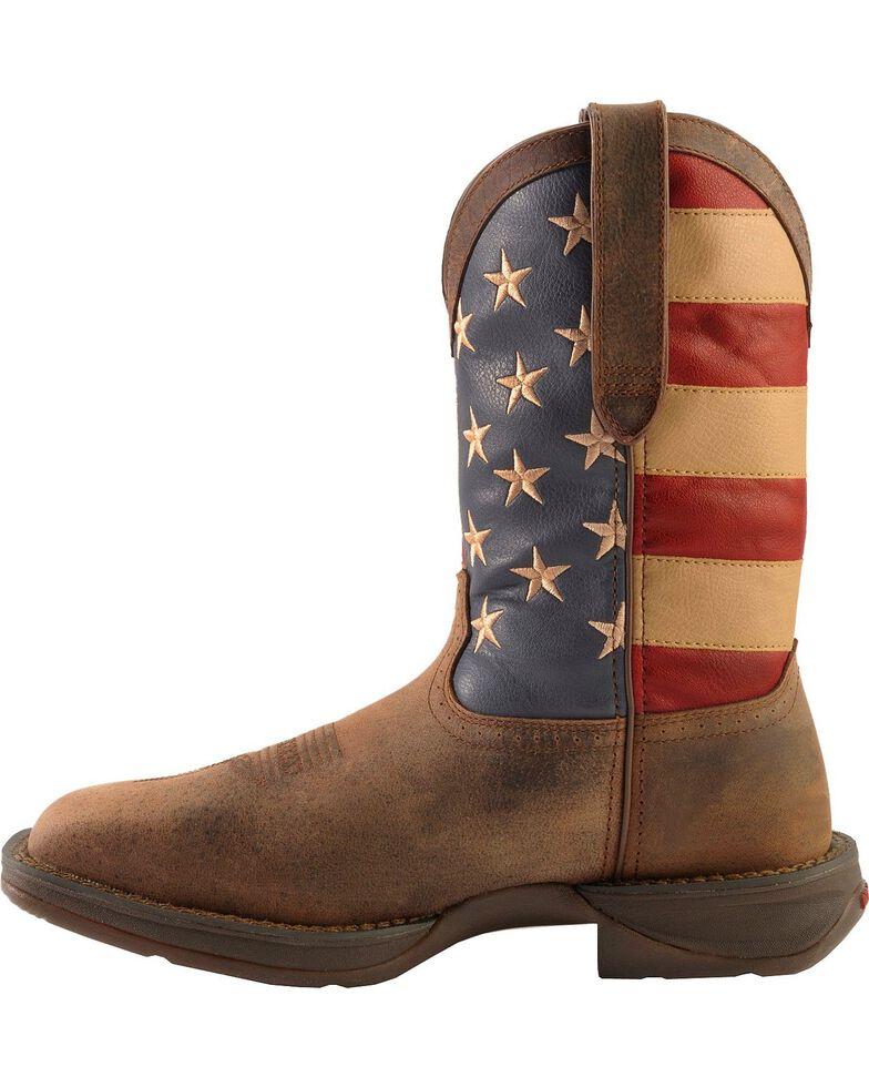 Rebel By Durango Men S Steel Toe American Flag Western