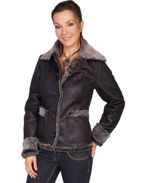 Scully Faux Fur Trim Jacket, Charcoal Grey, hi-res