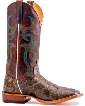 Horse Power Men's Rust Thundercat Filet of Fish Boots - Square Toe, Brown, hi-res