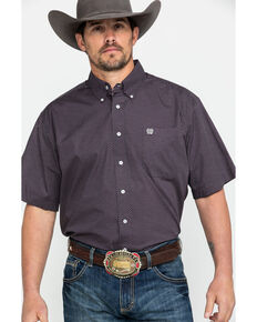 Cinch Men's Tencel Multi Geo Print Short Sleeve Western Shirt , Multi, hi-res
