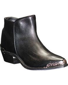 Sage Women's Snip Toe Demi-Boots, Black, hi-res
