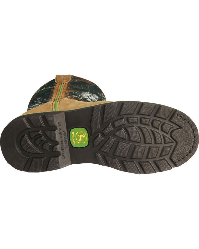 John Deere® Men's Steel Toe Mossy Oak Wellington Boots, Tan, hi-res
