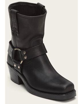 Frye Women's Harness 8R Boots - Square Toe , Black, hi-res