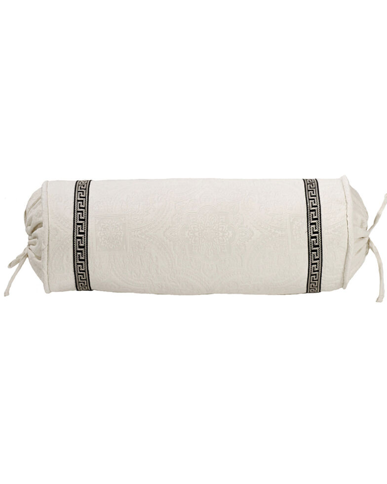 HiEnd Accent White Augusta Matelasse Neckroll Pillow, White, hi-res