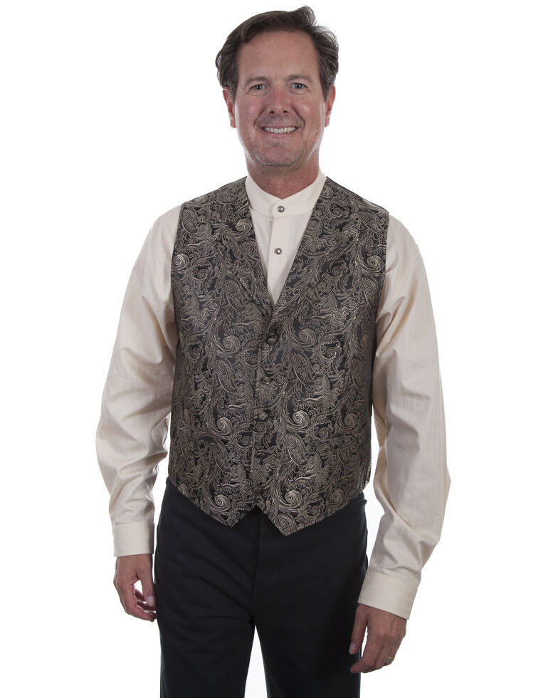 Rangewear by Scully Men's Scroll Vest , Brown, hi-res