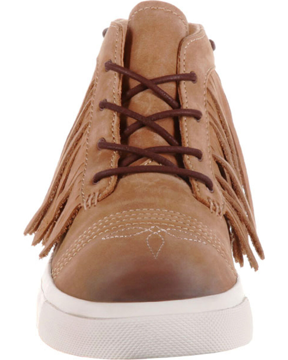 Durango Women's Music City Fringe Lacer Sneakers, Brown, hi-res