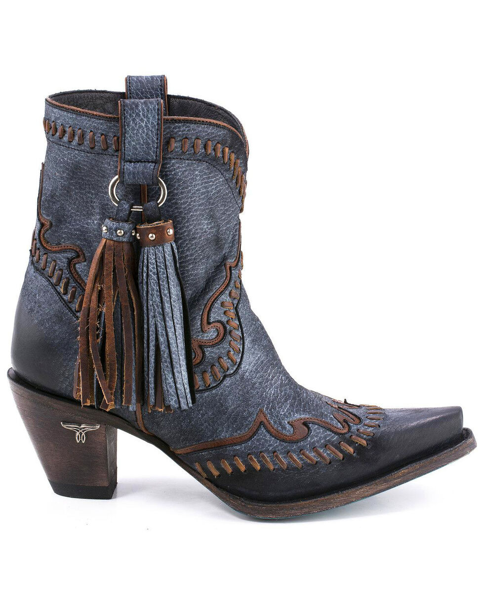 Lane Women's Hoedown Short Boots - Snip Toe , Black, hi-res