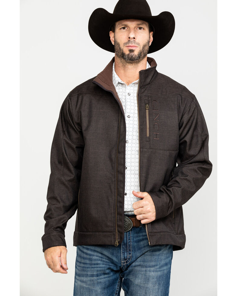 Cinch Men's 4X Brown Concealed Carry Bonded Jacket , Brown, hi-res