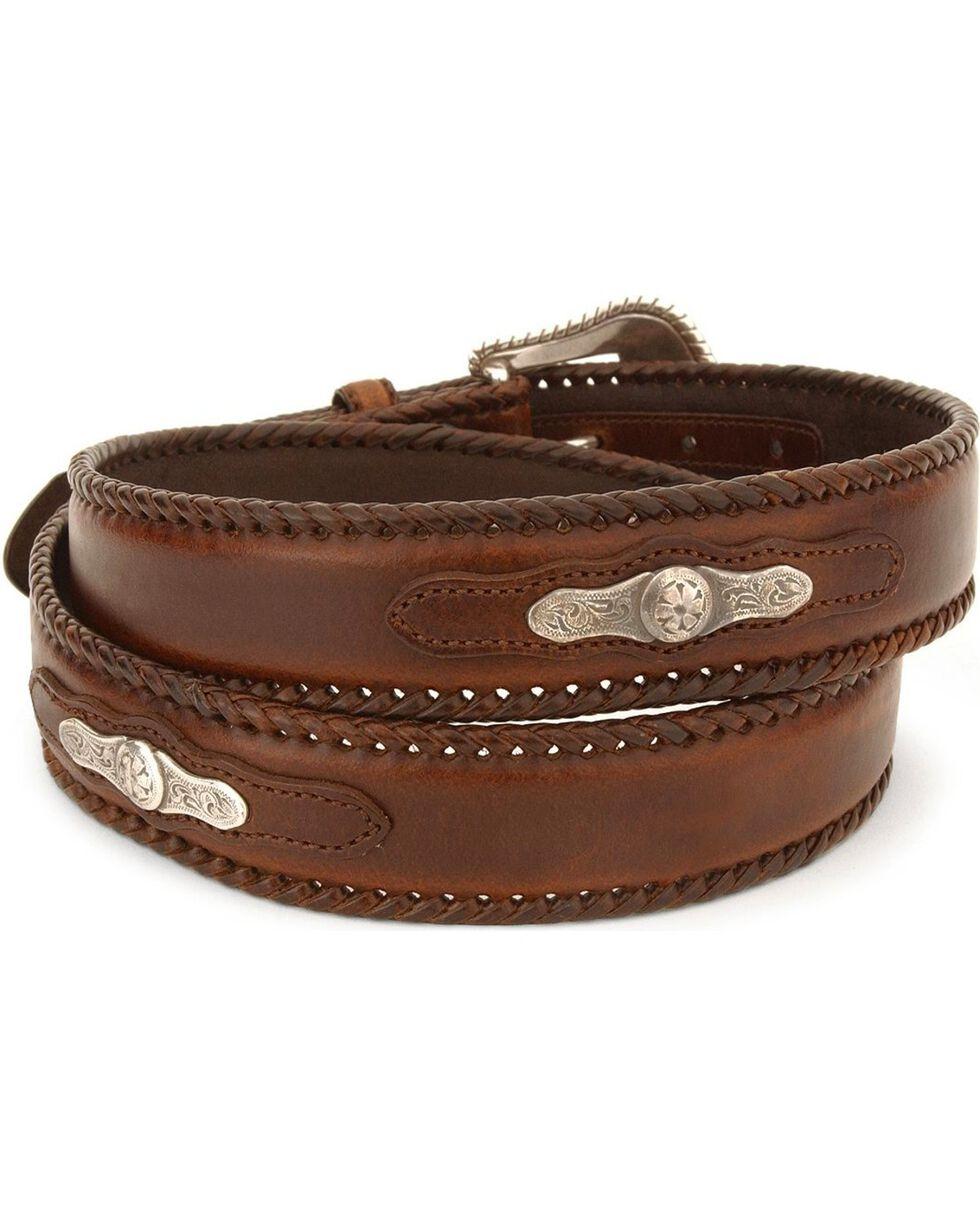 Nocona Men's Leather Concho Belt, Brown, hi-res