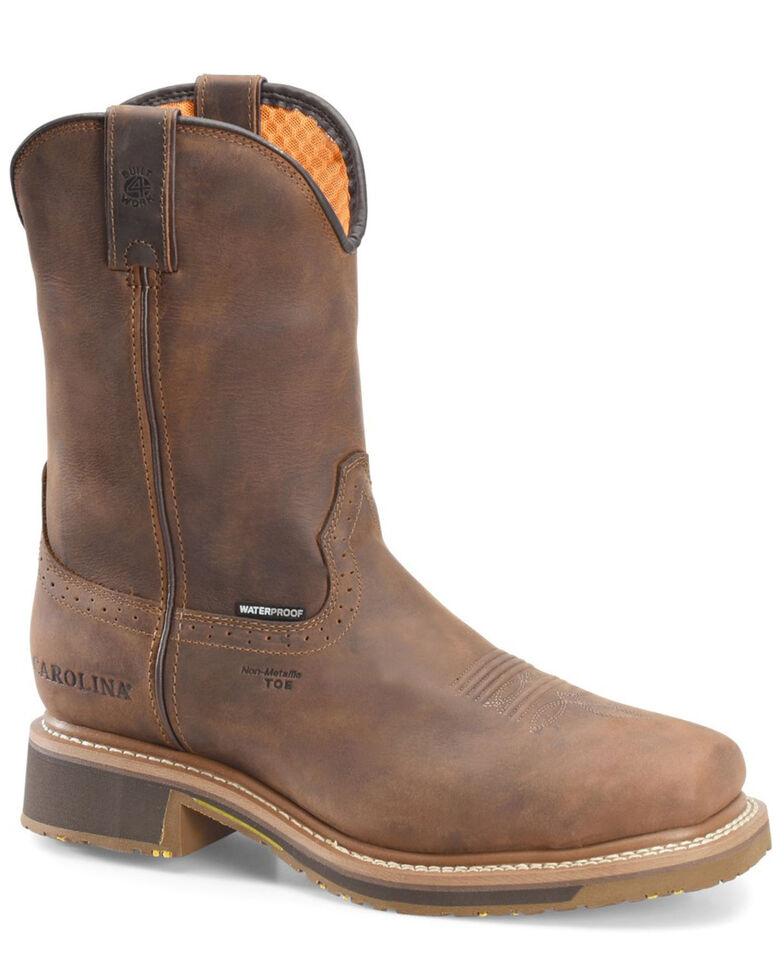 Carolina Men's Anchor Waterproof Western Work Boots - Composite Toe, Brown, hi-res