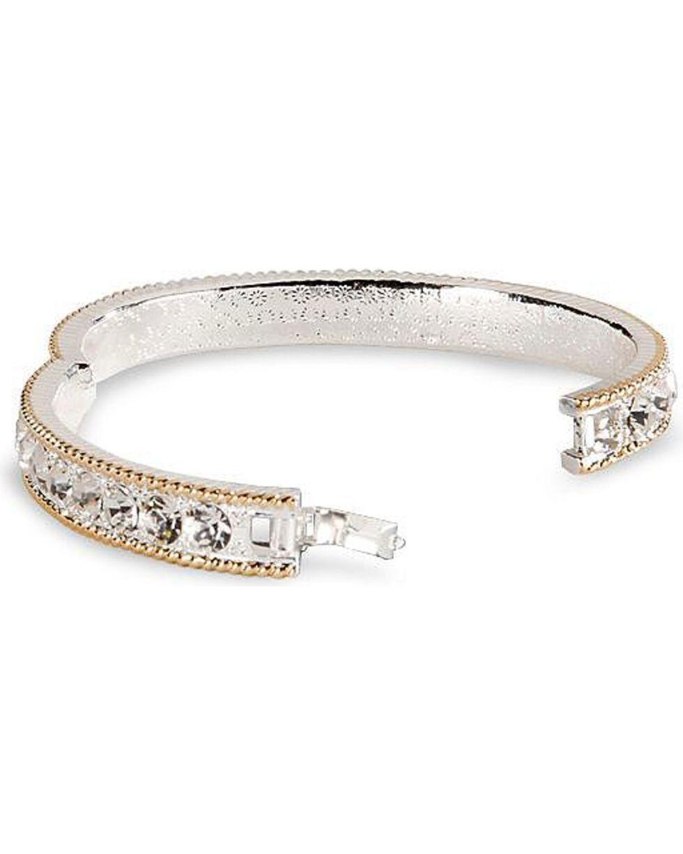 Montana Silversmiths Women's Crystal Shine Bangle Bracelet, Silver, hi-res