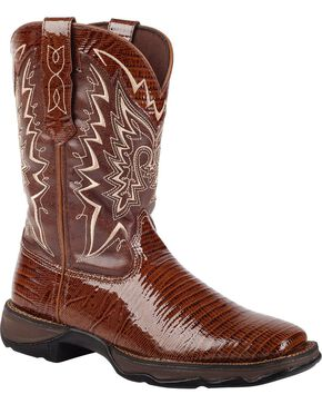 Lady Rebel by Durango Women's Snake Oil Western Boots, Chocolate, hi-res