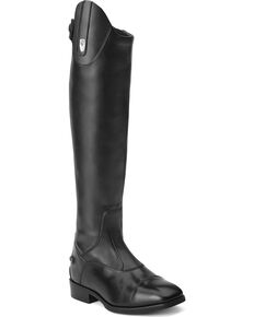 Ariat Women's Monaco Stretch Tall Zip English Boots, Black, hi-res