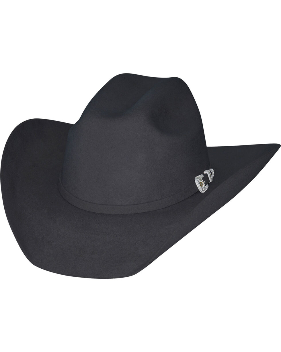 Bullhide Kids' Black Legacy 8X Fur Blend Cowboy Hat, Black, hi-res