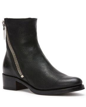 Frye Women's Black Demi Zip Booties - Round Toe , Black, hi-res