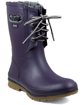 Bogs Women's Amanda Plush Waterproof Work Boots - Round Toe, Fuscia, hi-res