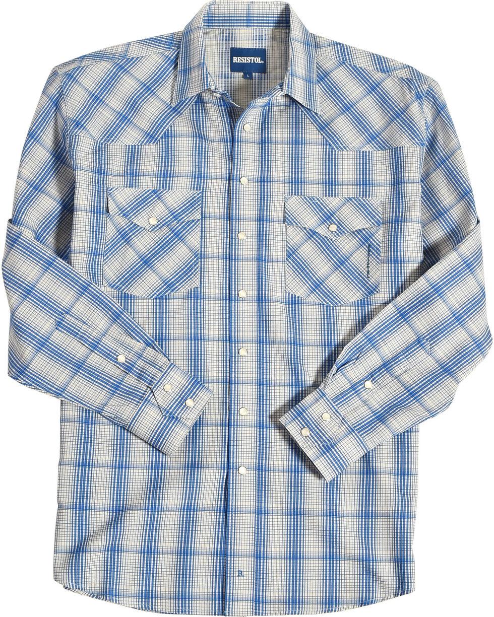 Resistol Men's Blue Jasper Snap Down Shirt , Blue, hi-res