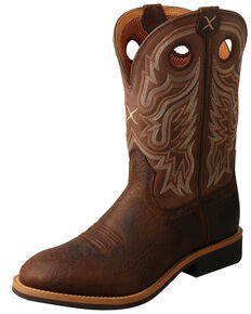 Twisted X Men's Buckle Top Western Boots - Round Toe, Tan, hi-res