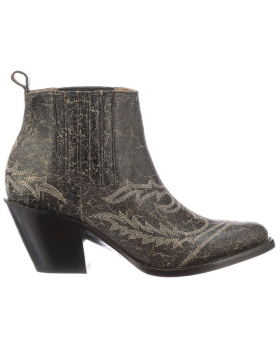 Lucchese Women's Rogue Western Booties - Round Toe, Grey, hi-res