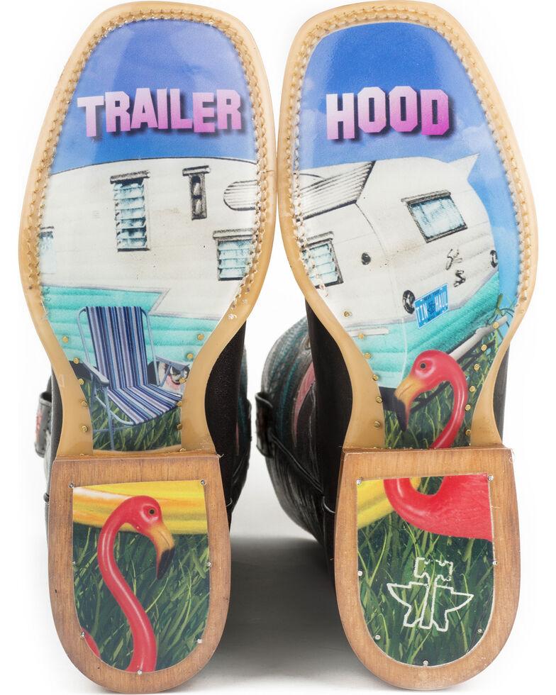 Tin Haul Women's Flamingo Western Boots, Black, hi-res