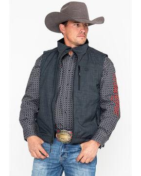 Wrangler Men's Heather Grey Bonded Trail Vest, Charcoal, hi-res
