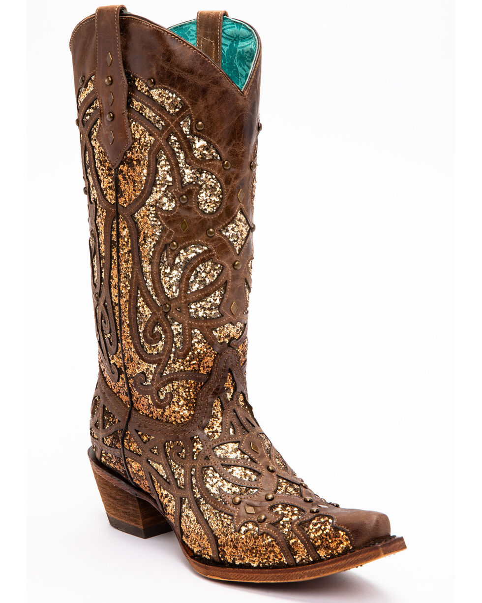 Corral Women's Golden Luminary Roots Western Boots - Snip Toe, , hi-res