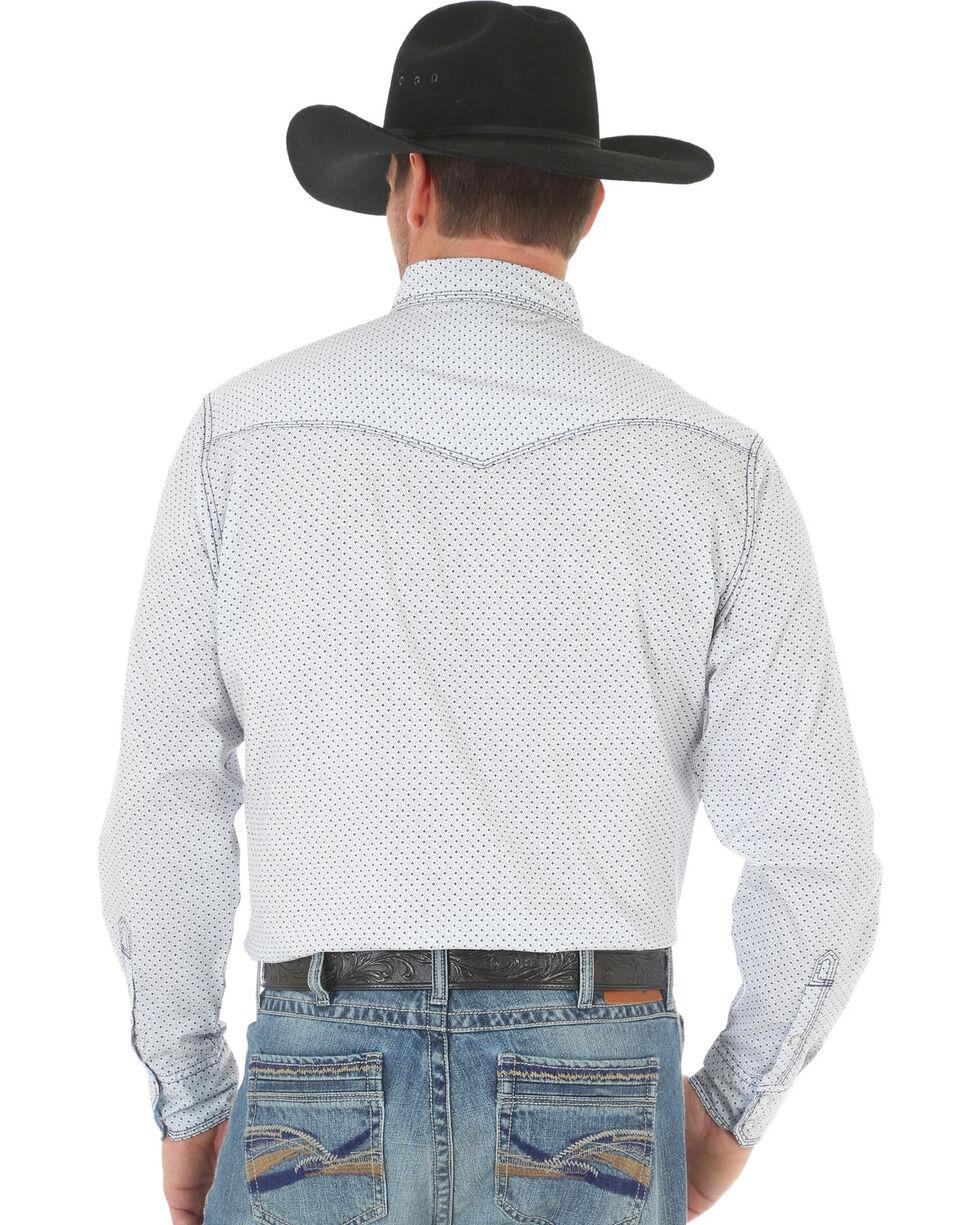 Wrangler 20X Men's White/Blue Competition Advanced Comfort Snap Shirt, White, hi-res