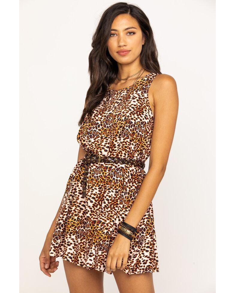 Coco + Jaimeson Women's Leopard Print Trapeze Dress, Leopard, hi-res