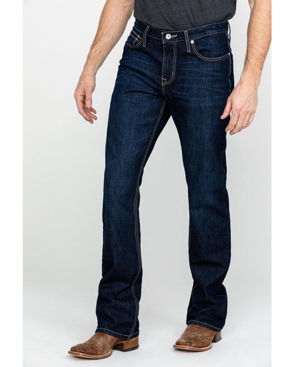 Cinch Men's Ian Medium Rinse Mid Slim Boot Jeans , Indigo, hi-res