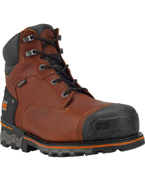 "Timberland Pro Men's 6"" Boondock Ins WP Comp Toe Work Boots, Brown, hi-res"