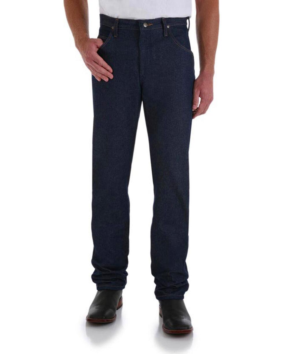 Wrangler Men's Premium Performance Tapered Leg Cowboy Cut Jeans - Big, Indigo, hi-res