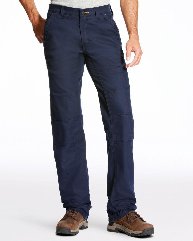 Ariat Men's Rebar M4 Stretch Canvas Utility Straight Leg Pants - Big, Navy, hi-res