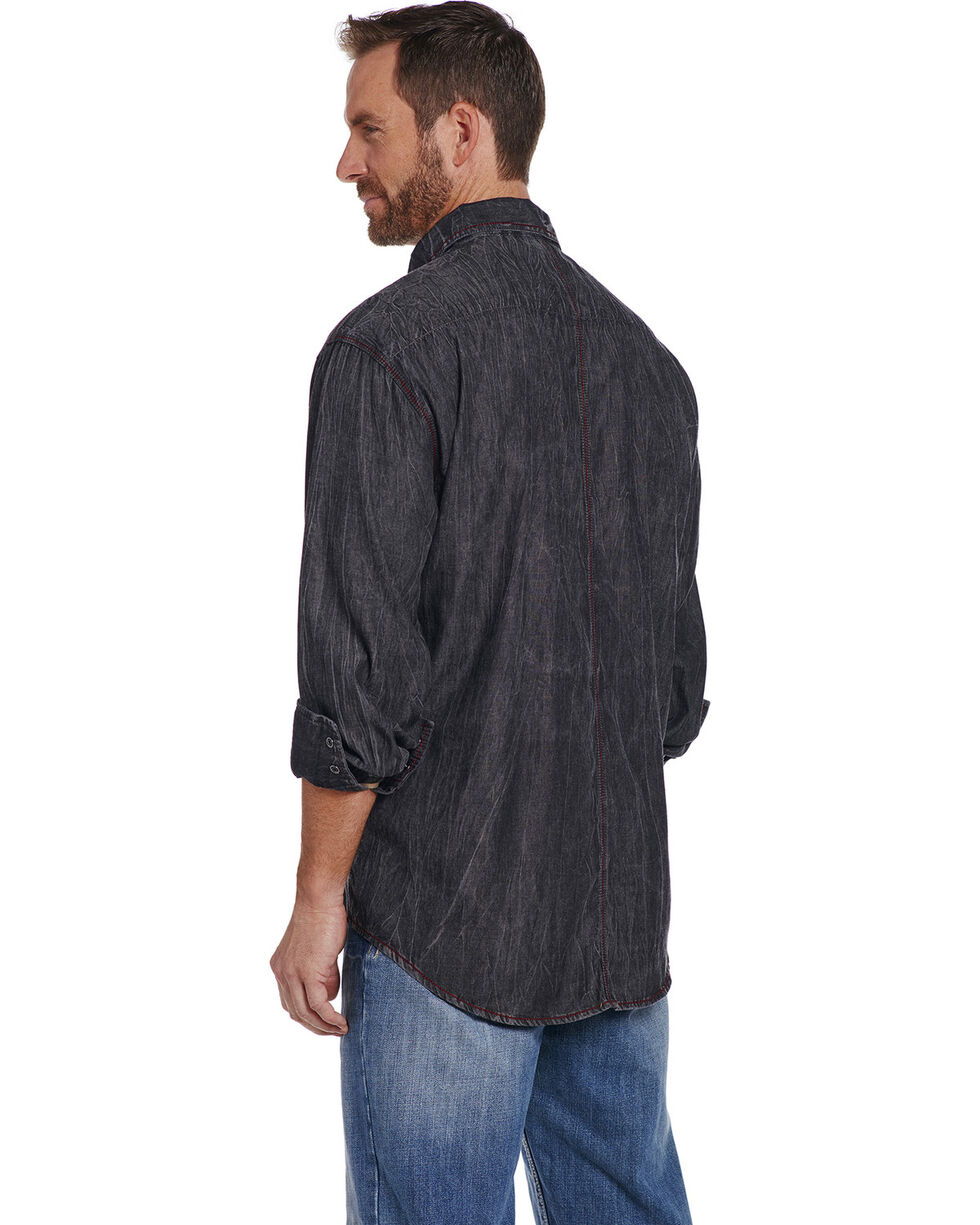 Cowboy Up Men's Black Special Wash Shirt , Black, hi-res