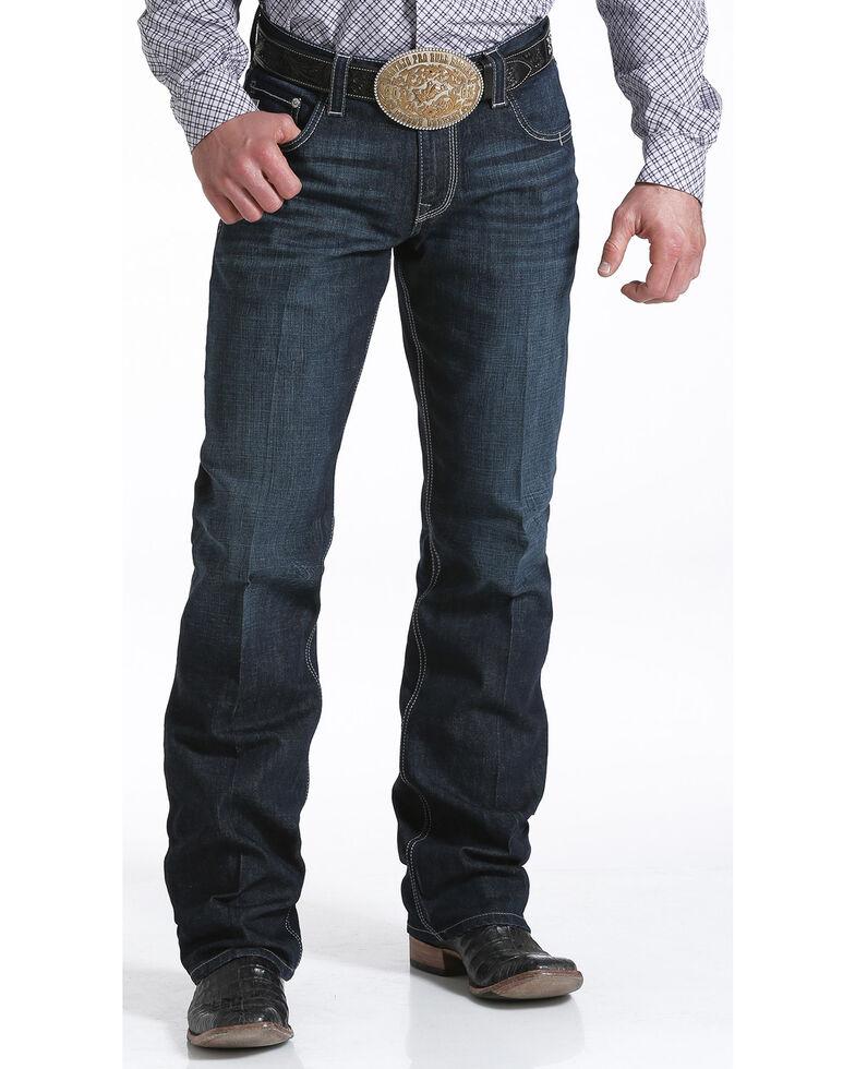 Cinch Men's Carter Relaxed Dark Wash Jeans, Indigo, hi-res