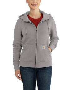 Carhartt Women's Dark Grey Clarksburg Full-Zip Hoodie , Dark Grey, hi-res