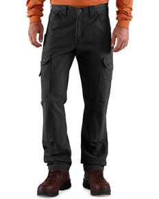 Carhartt Men's Cotton Ripstop Pants, Black, hi-res