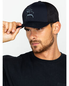 HOOey Men's Solid Logo Golf Moasic Cap, Black, hi-res